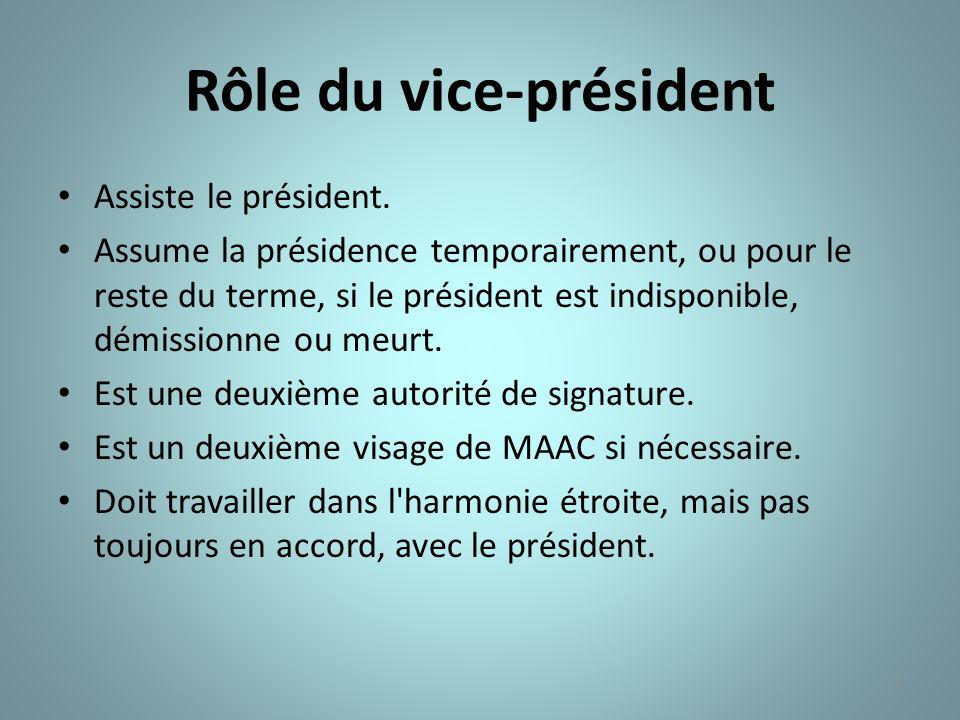 Rôle du vice-président