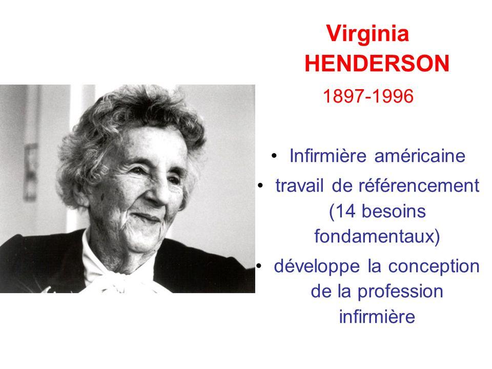 Virginia HENDERSON 1897-1996 Infirmière américaine