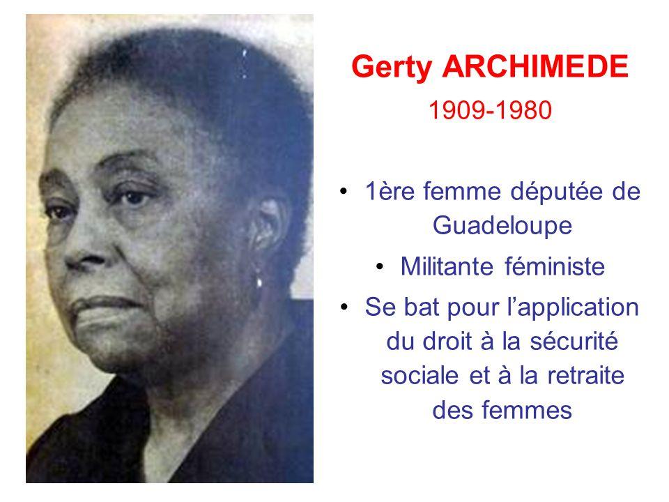 1ère femme députée de Guadeloupe