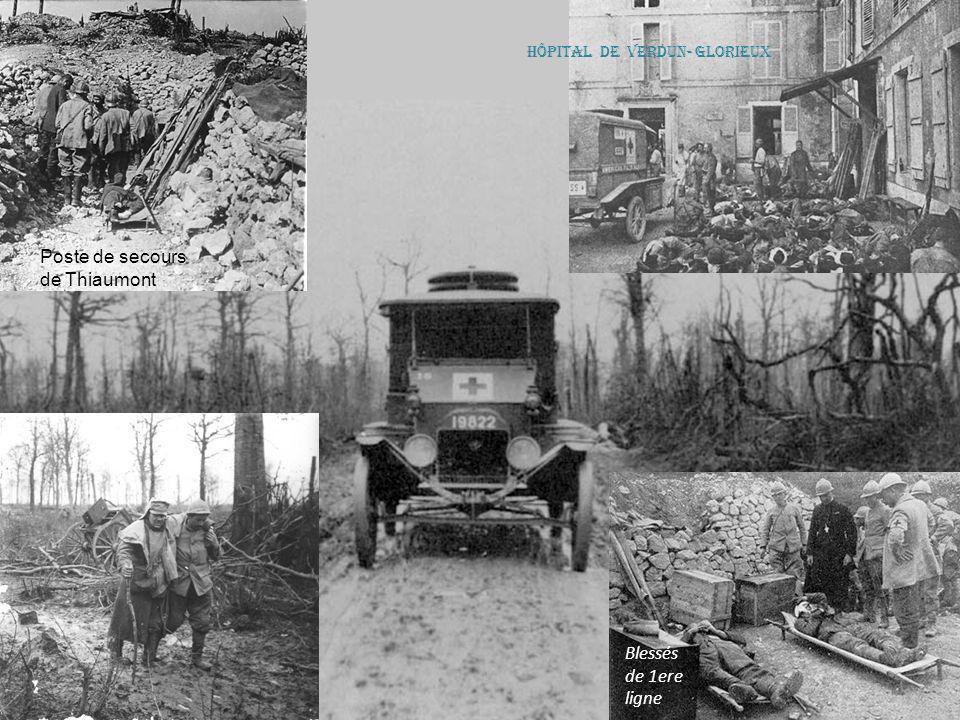 Poste de secours de Thiaumont Blessés de 1ere ligne