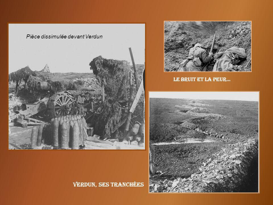 Verdun, ses tranchées Pièce dissimulée devant Verdun