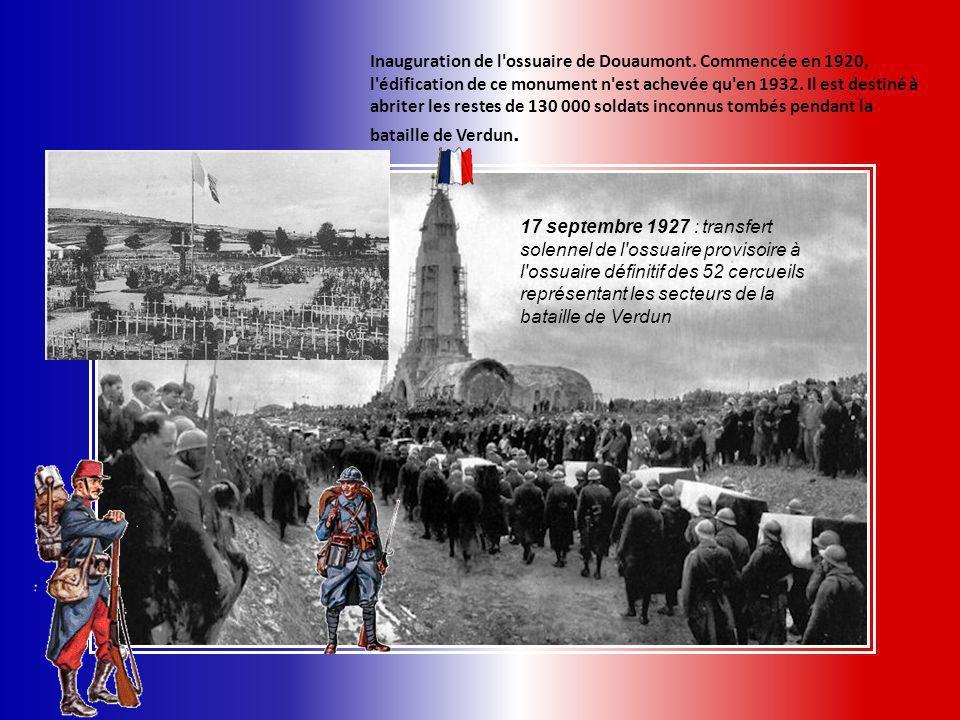 Inauguration de l ossuaire de Douaumont