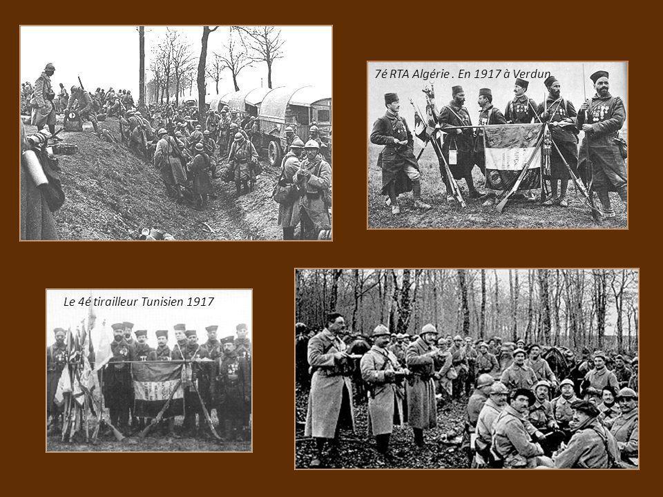 7é RTA Algérie . En 1917 à Verdun