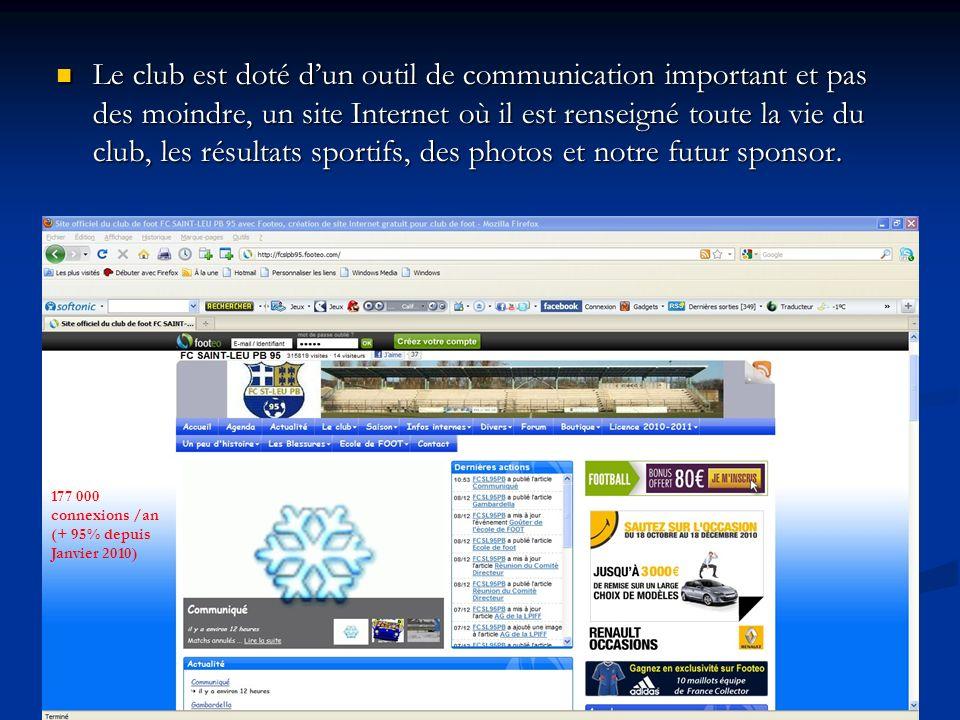 Le club est doté d'un outil de communication important et pas des moindre, un site Internet où il est renseigné toute la vie du club, les résultats sportifs, des photos et notre futur sponsor.