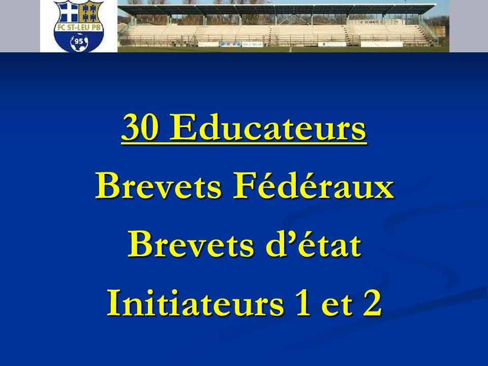 30 Educateurs Brevets Fédéraux Brevets d'état Initiateurs 1 et 2
