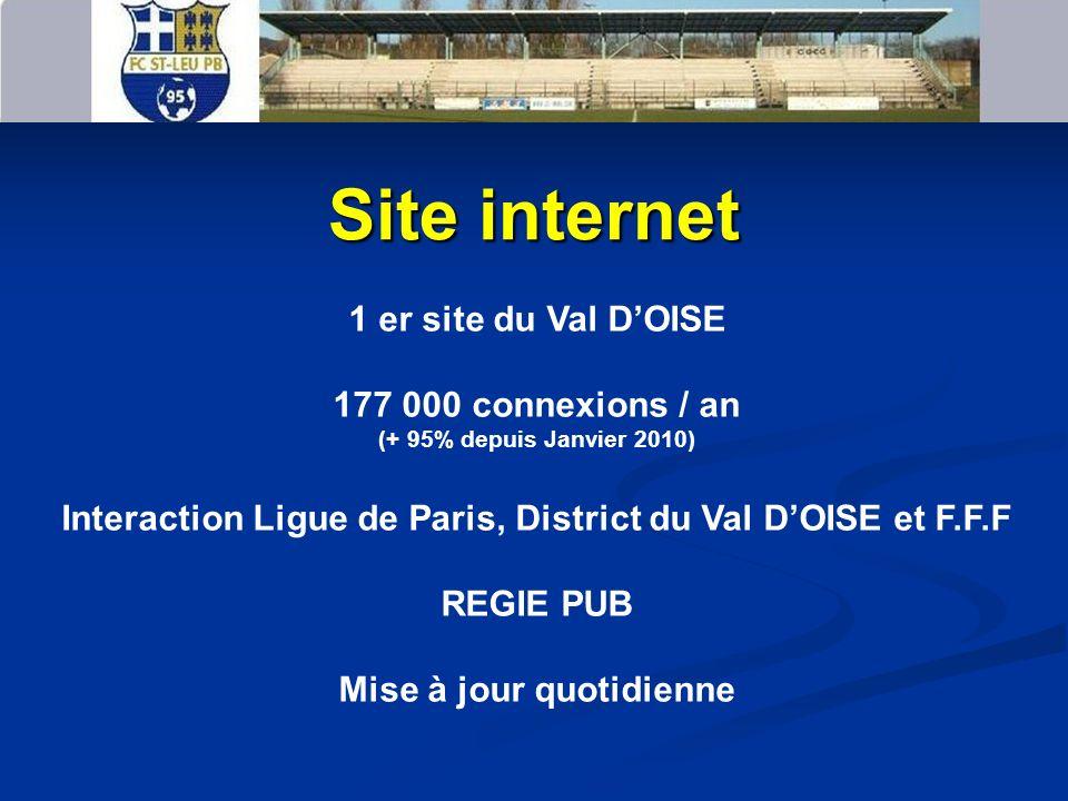 Site internet 1 er site du Val D'OISE 177 000 connexions / an