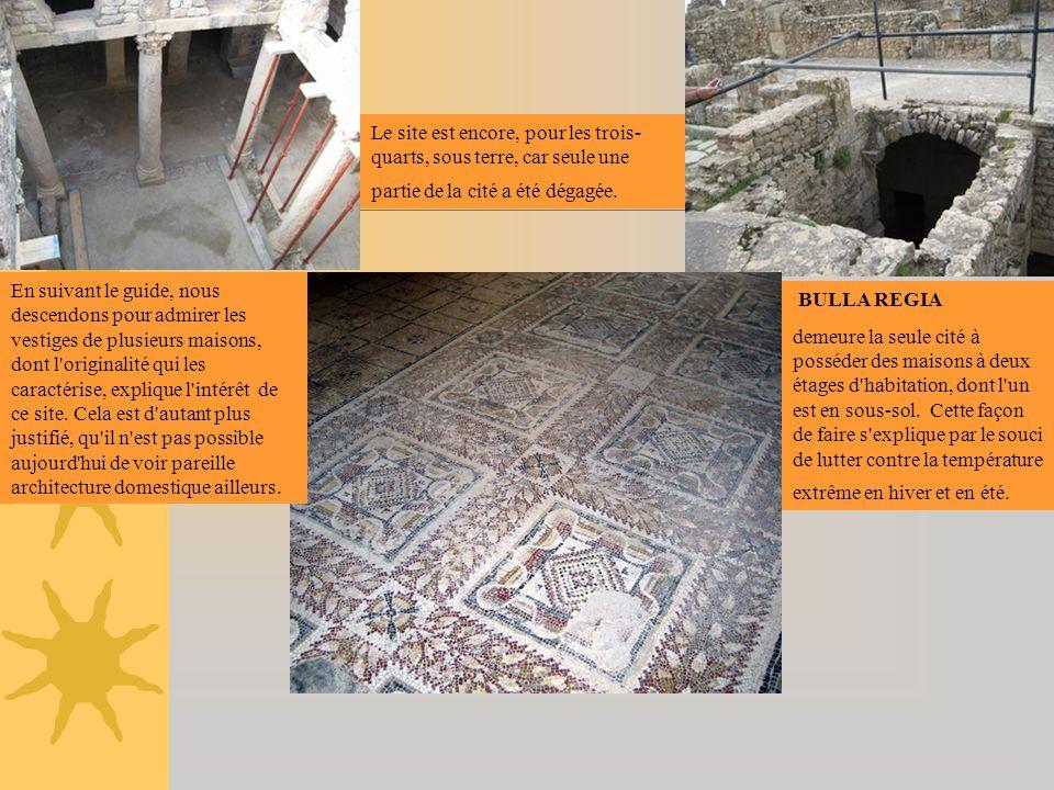 Le site est encore, pour les trois-quarts, sous terre, car seule une partie de la cité a été dégagée.