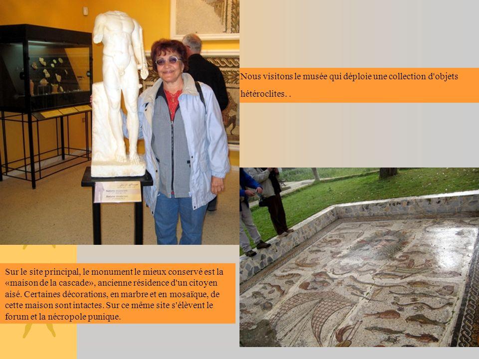 Nous visitons le musée qui déploie une collection d objets hétéroclites. .