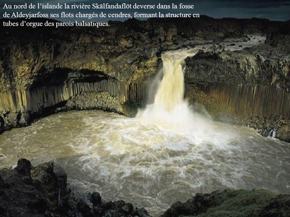 Au nord de l'islande la rivière Skälfandaflöt deverse dans la fosse