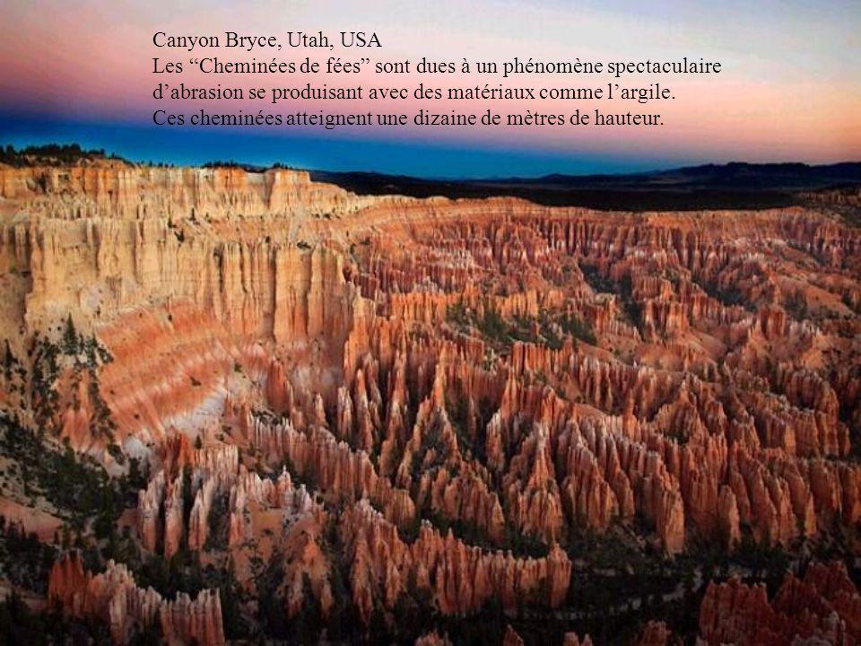 Canyon Bryce, Utah, USA Les Cheminées de fées sont dues à un phénomène spectaculaire. d'abrasion se produisant avec des matériaux comme l'argile.