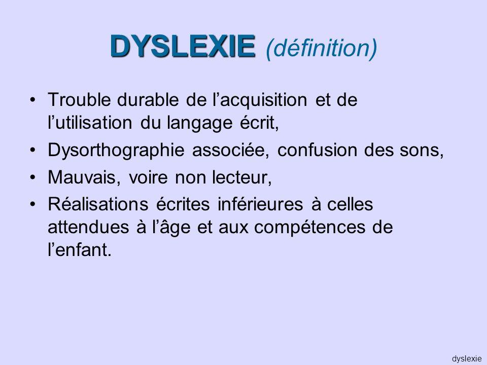 DYSLEXIE (définition)