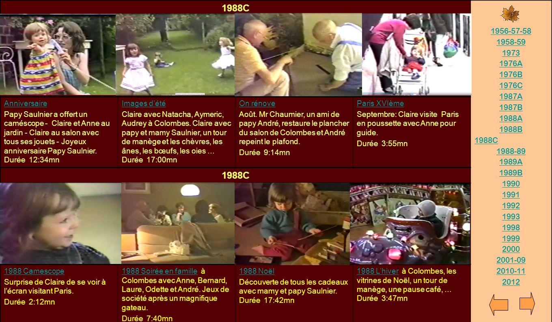 1988C 1956-57-58. 1958-59. 1973. 1976A. 1976B. 1976C. 1987A. 1987B. 1988A. 1988B. 1988-89.