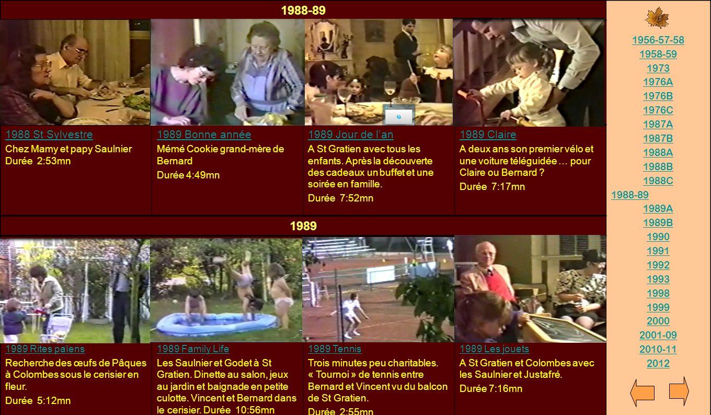 1988-89 1989 1988 St Sylvestre 1989 Bonne année 1989 Jour de l'an