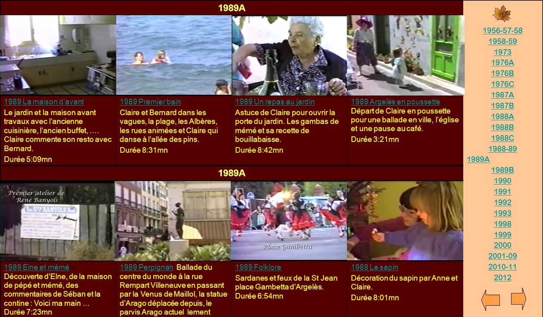 1989A 1956-57-58. 1958-59. 1973. 1976A. 1976B. 1976C. 1987A. 1987B. 1988A. 1988B. 1988C. 1988-89.