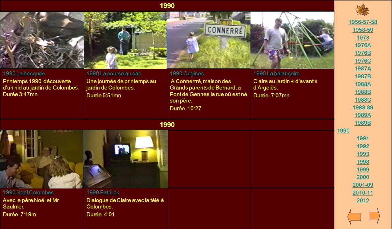 1990 1956-57-58. 1958-59. 1973. 1976A. 1976B. 1976C. 1987A. 1987B. 1988A. 1988B. 1988C. 1988-89.