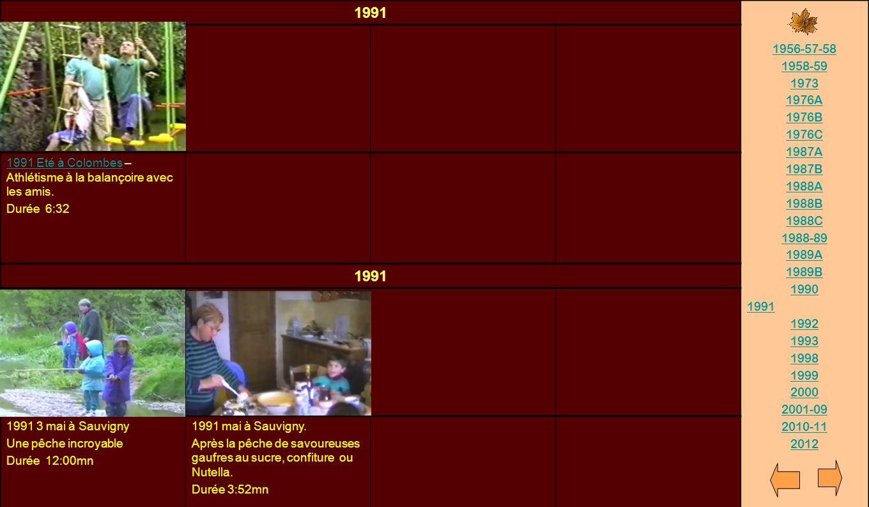 1991 1956-57-58. 1958-59. 1973. 1976A. 1976B. 1976C. 1987A. 1987B. 1988A. 1988B. 1988C. 1988-89.