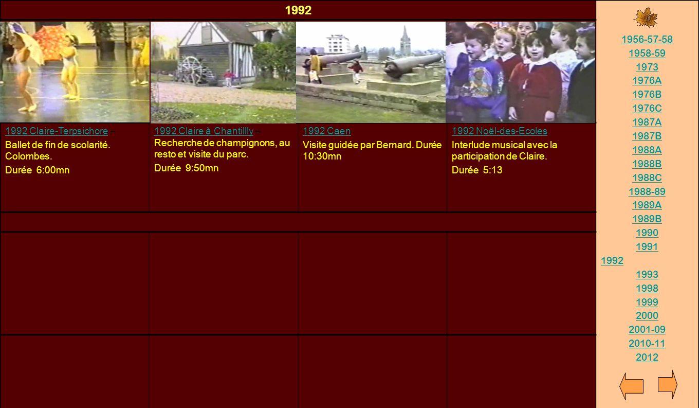 1992 1956-57-58. 1958-59. 1973. 1976A. 1976B. 1976C. 1987A. 1987B. 1988A. 1988B. 1988C. 1988-89.