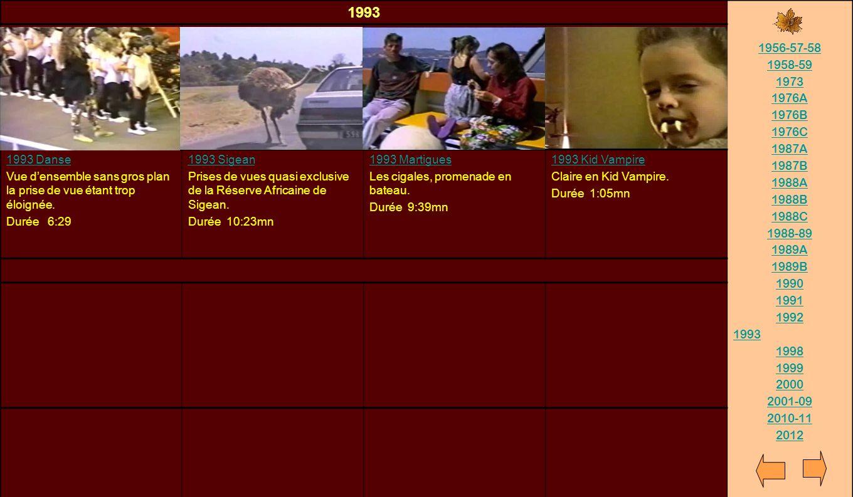 1993 1956-57-58. 1958-59. 1973. 1976A. 1976B. 1976C. 1987A. 1987B. 1988A. 1988B. 1988C. 1988-89.