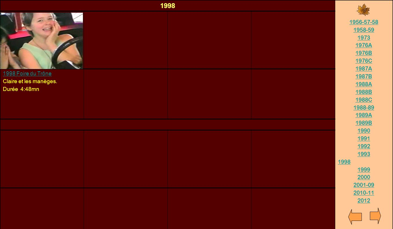 1998 1956-57-58. 1958-59. 1973. 1976A. 1976B. 1976C. 1987A. 1987B. 1988A. 1988B. 1988C. 1988-89.