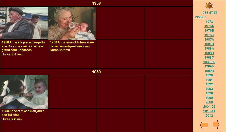 1958 1956-57-58. 1958-59. 1973. 1976A. 1976B. 1976C. 1987A. 1987B. 1988A. 1988B. 1988C. 1988-89.