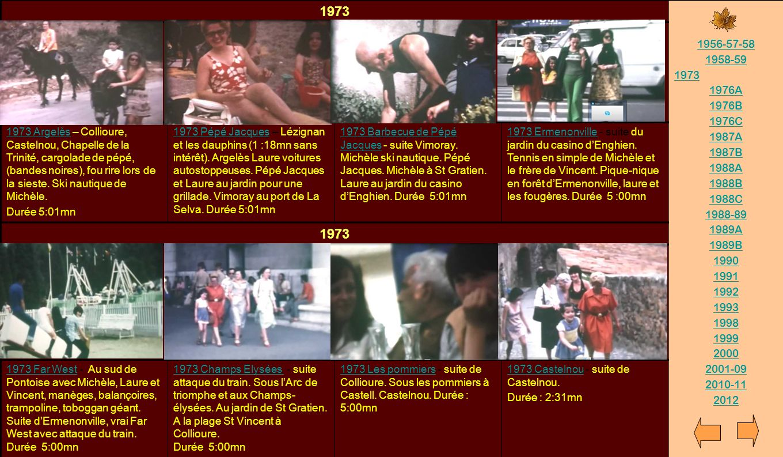 1973 1956-57-58. 1958-59. 1976A. 1976B. 1976C. 1987A. 1987B. 1988A. 1988B. 1988C. 1988-89.