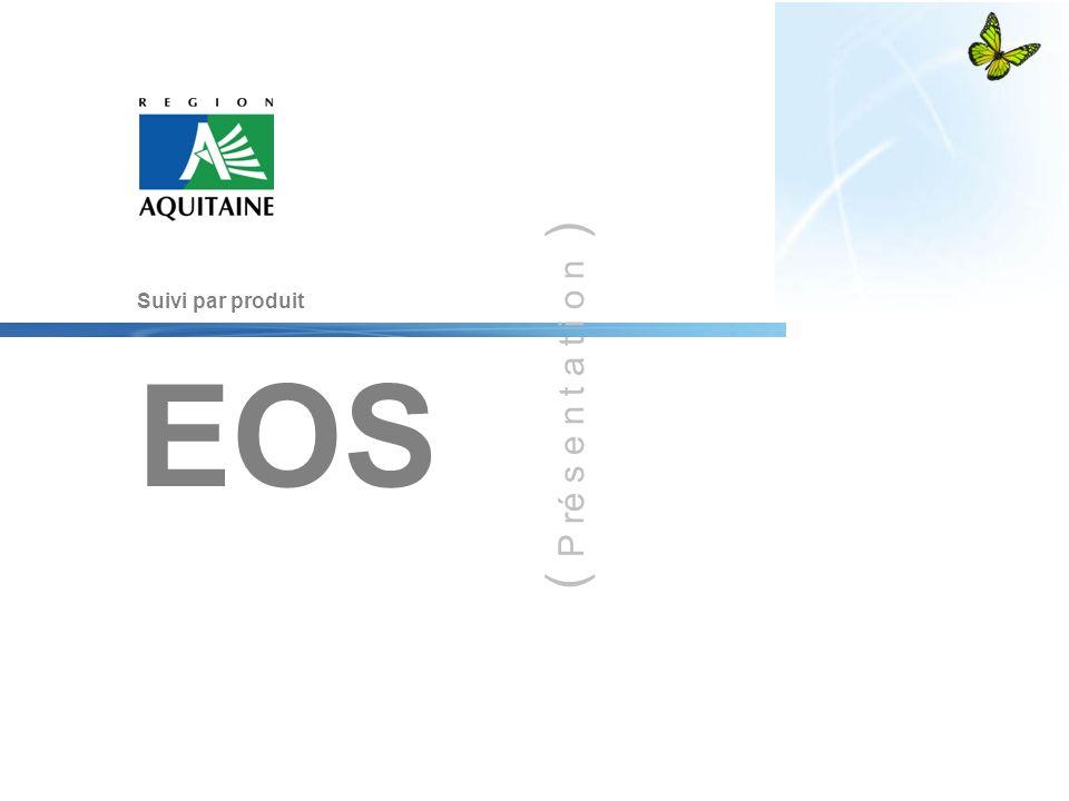 ( P ré s e n t a t i o n ) Suivi par produit EOS 1