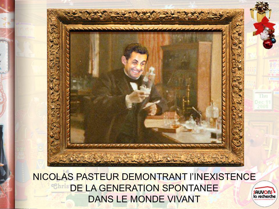NICOLAS PASTEUR DEMONTRANT l'INEXISTENCE DE LA GENERATION SPONTANEE