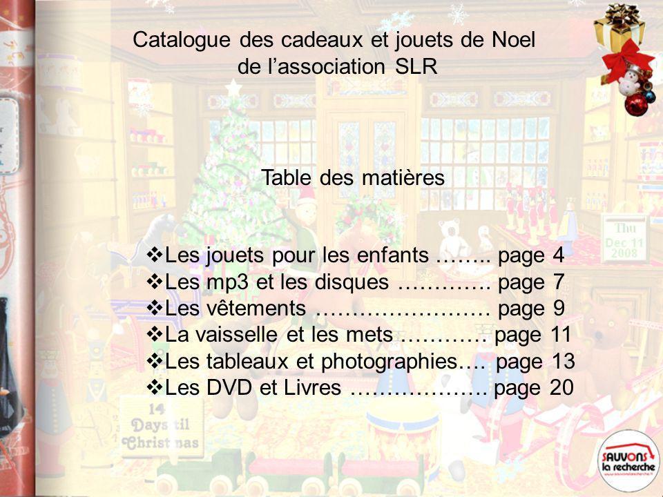 Catalogue des cadeaux et jouets de Noel