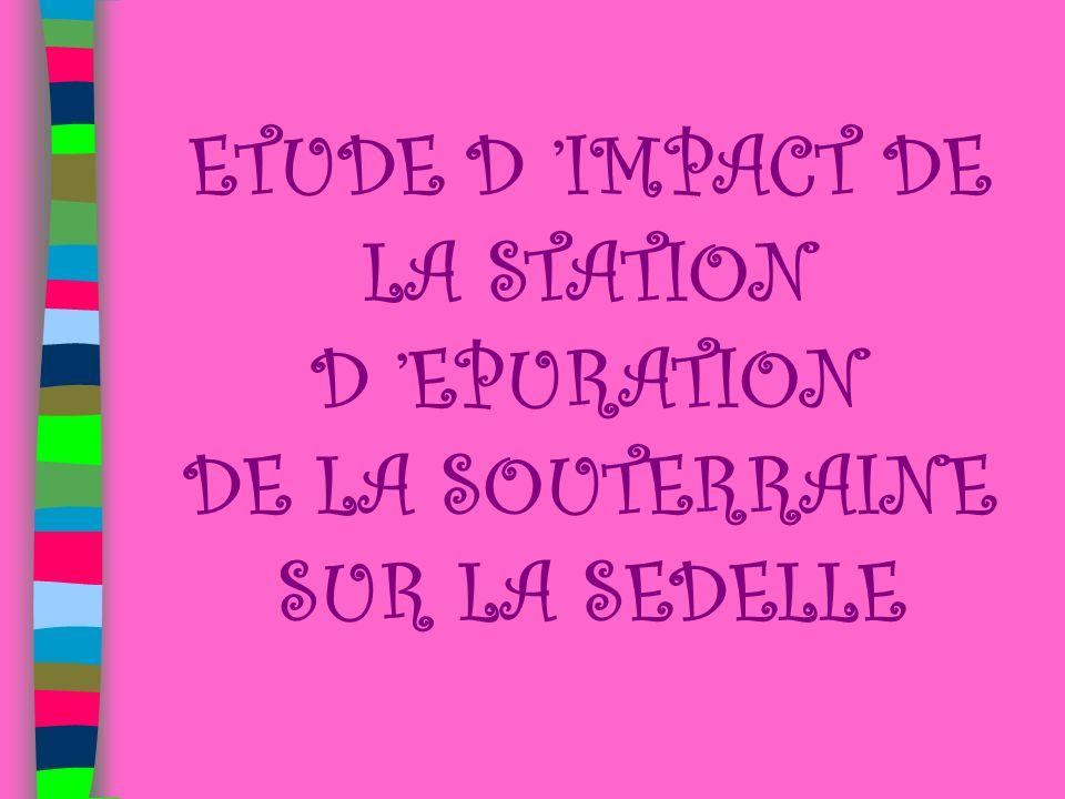 ETUDE D 'IMPACT DE LA STATION D 'EPURATION DE LA SOUTERRAINE SUR LA SEDELLE