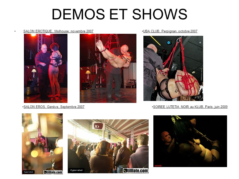 DEMOS ET SHOWS SALON EROTIQUE, Mulhouse, novembre 2007