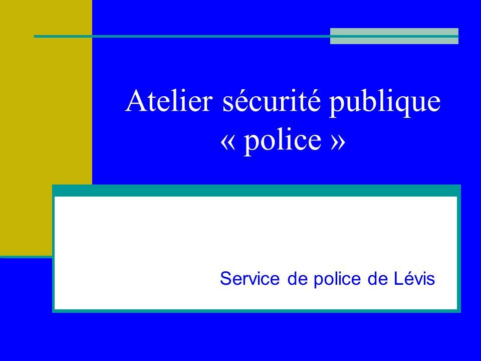 Atelier sécurité publique « police »