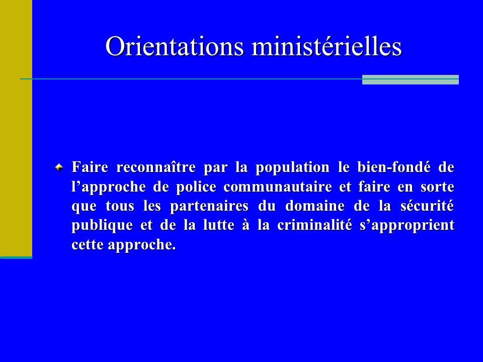 Orientations ministérielles