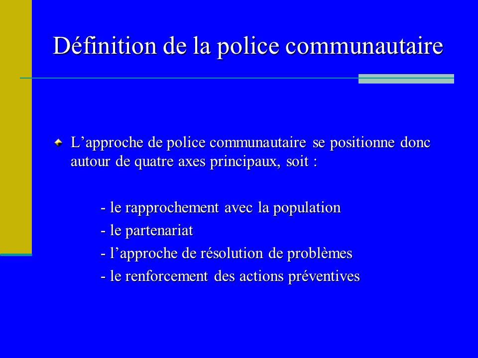Définition de la police communautaire