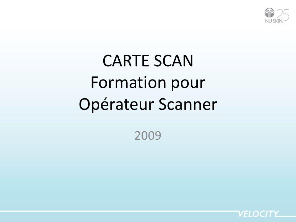 CARTE SCAN Formation pour Opérateur Scanner