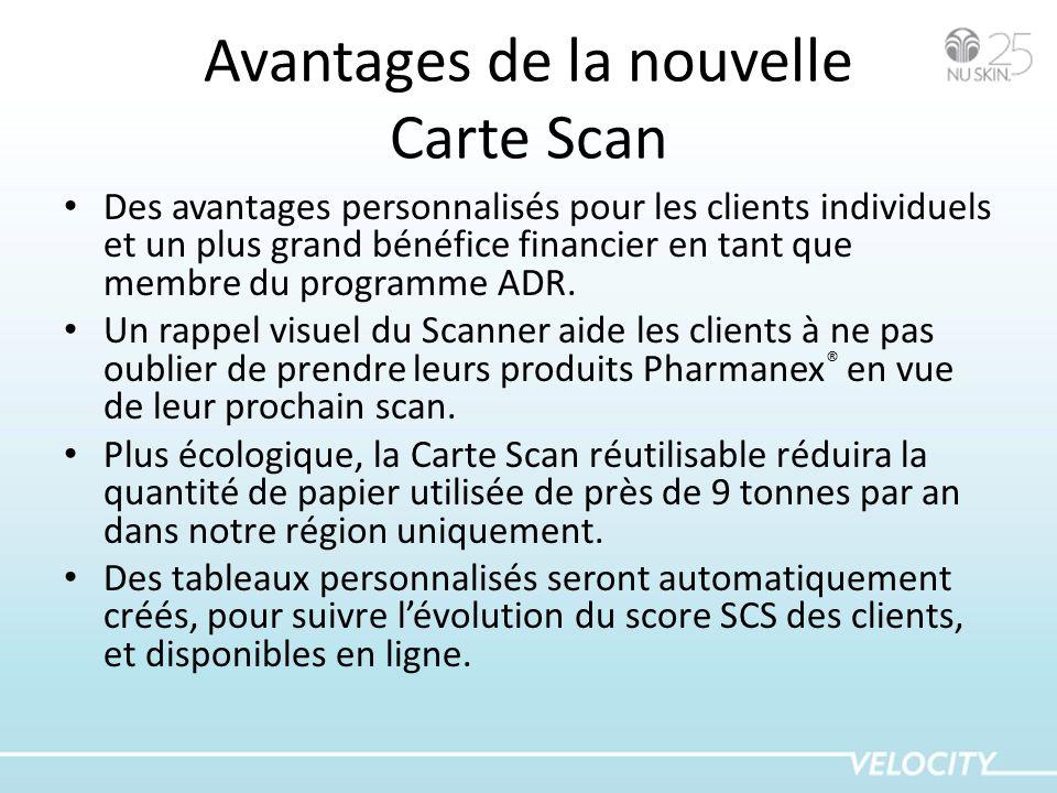 Avantages de la nouvelle Carte Scan