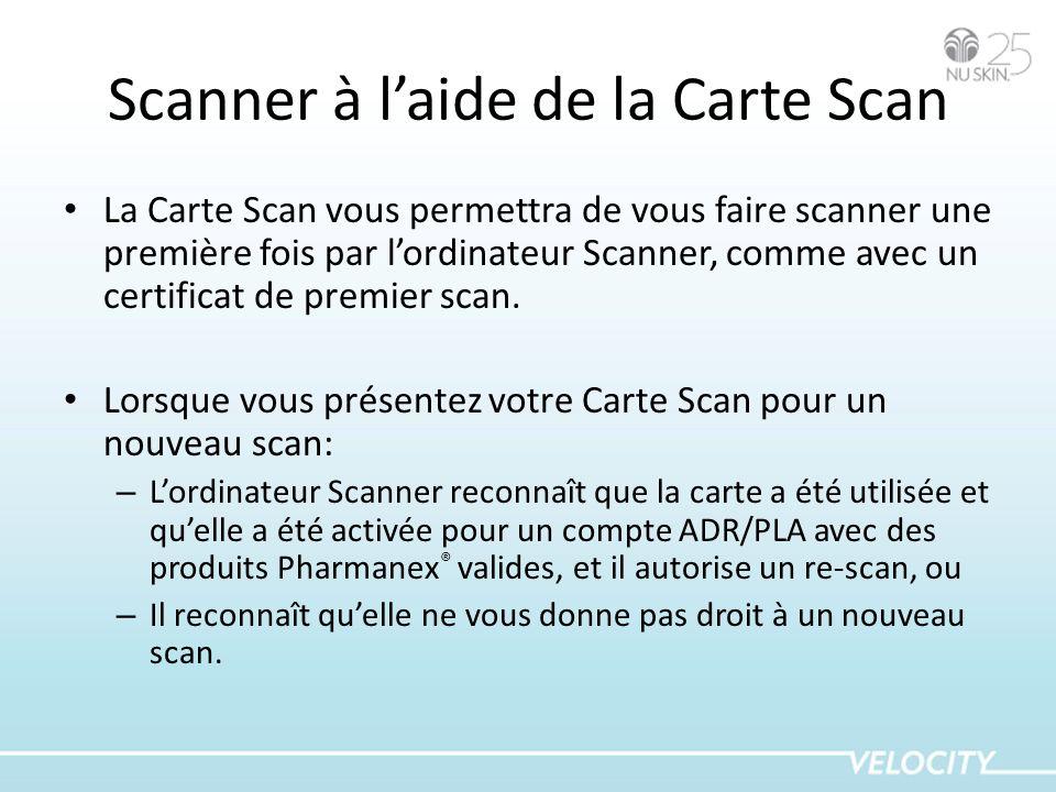 Scanner à l'aide de la Carte Scan