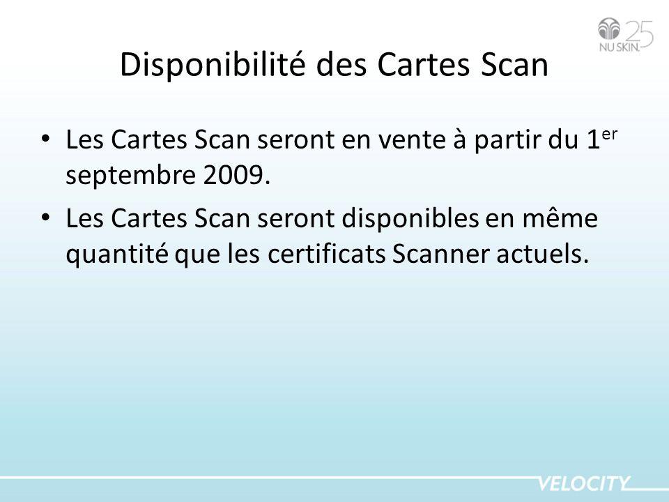 Disponibilité des Cartes Scan
