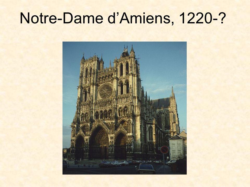 Notre-Dame d'Amiens, 1220-