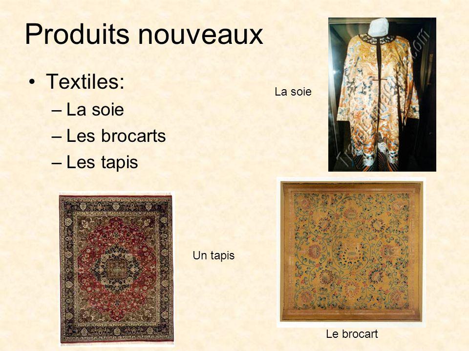 Produits nouveaux Textiles: La soie Les brocarts Les tapis La soie