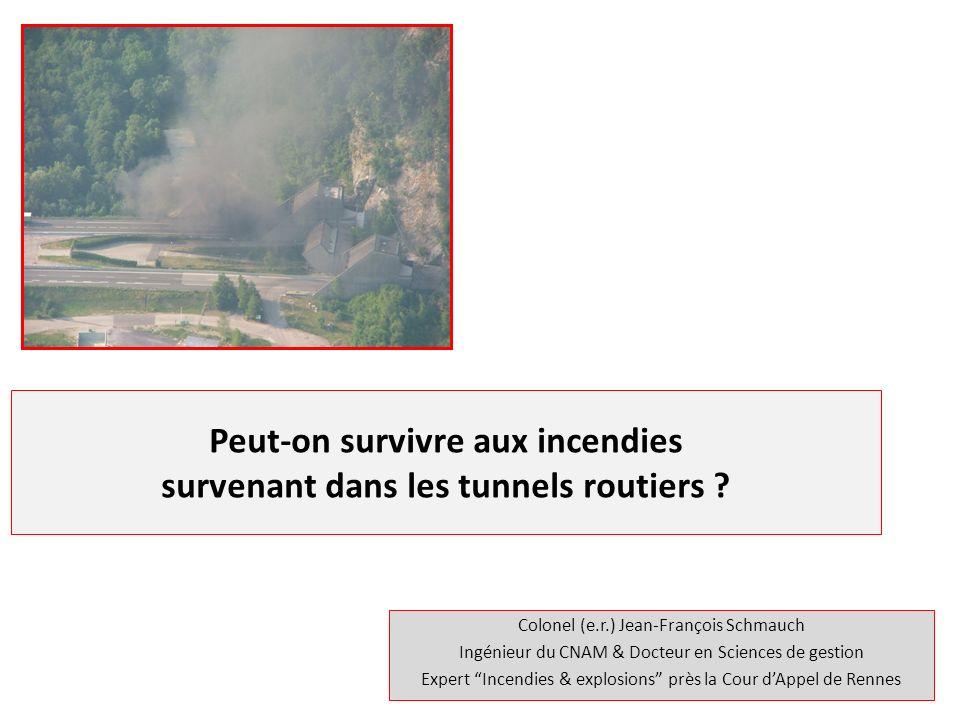 Peut-on survivre aux incendies survenant dans les tunnels routiers
