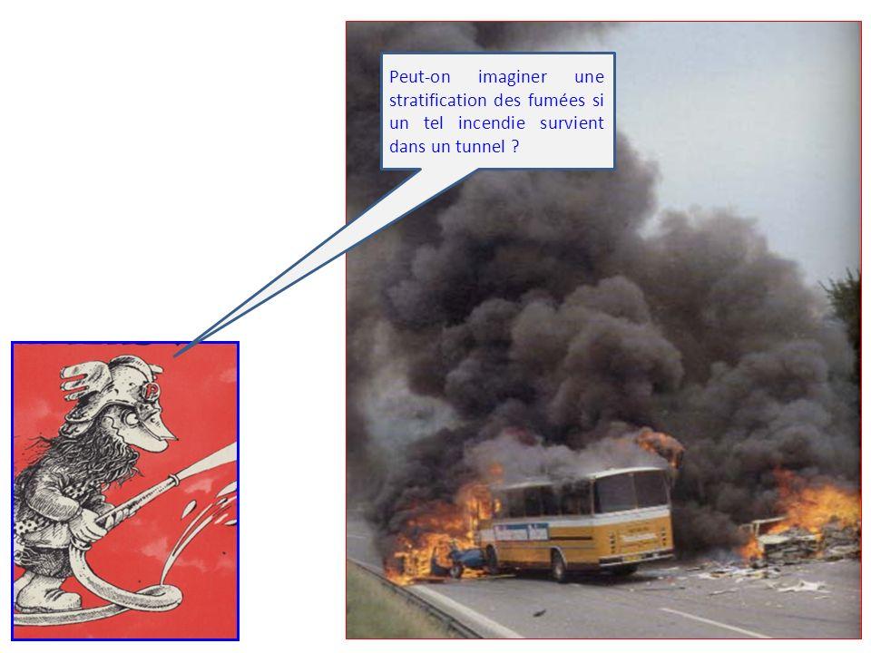 Peut-on imaginer une stratification des fumées si un tel incendie survient dans un tunnel