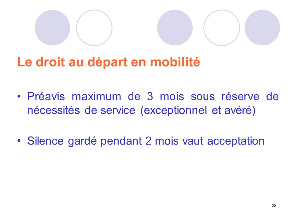 Le droit au départ en mobilité