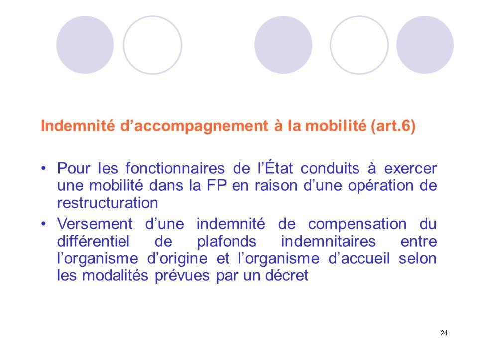 Indemnité d'accompagnement à la mobilité (art.6)