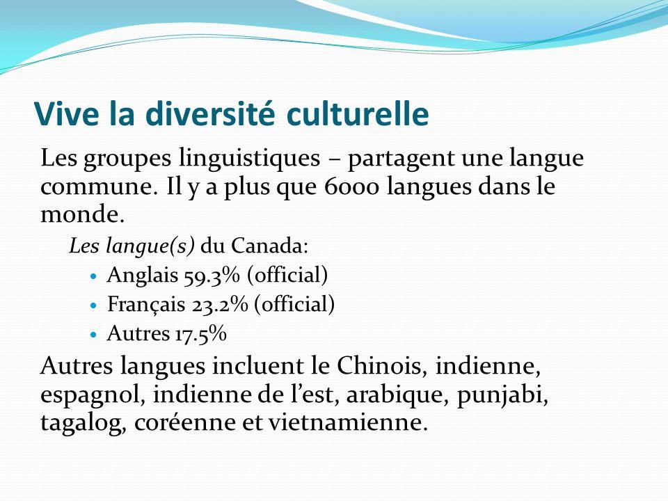 Vive la diversité culturelle