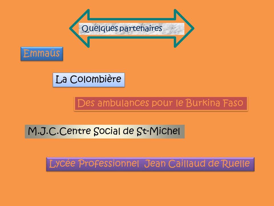 Des ambulances pour le Burkina Faso
