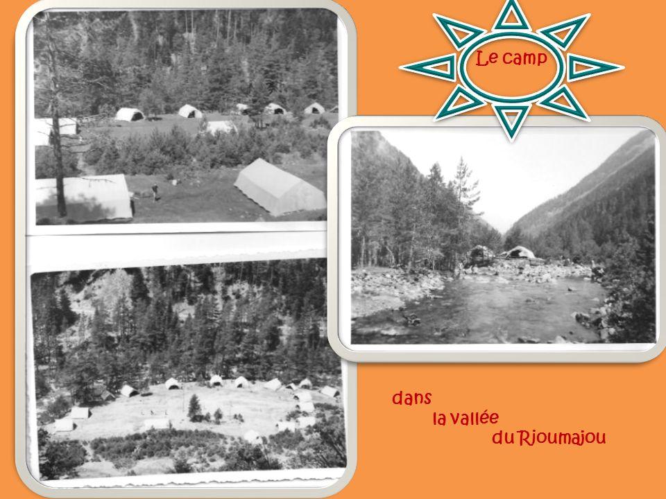 Le camp dans la vallée du Rioumajou