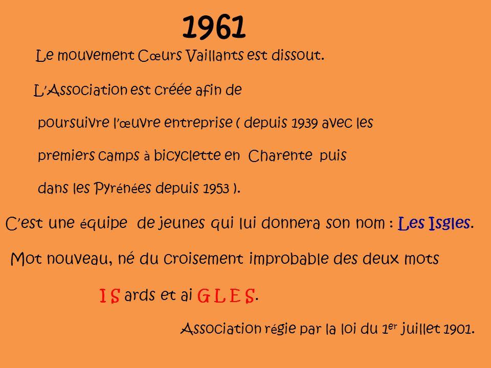 1961 C'est une équipe de jeunes qui lui donnera son nom : Les Isgles.