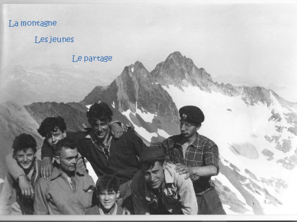 La montagne Les jeunes Le partage