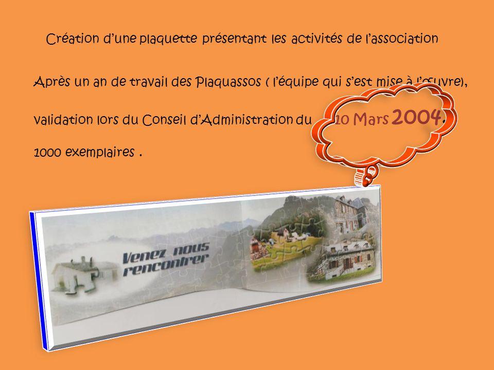 Création d'une plaquette présentant les activités de l'association