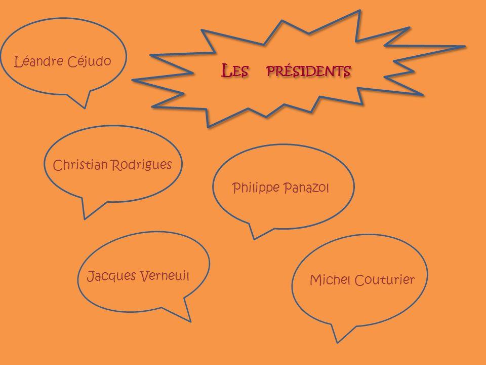 Les présidents Léandre Céjudo Christian Rodrigues Philippe Panazol